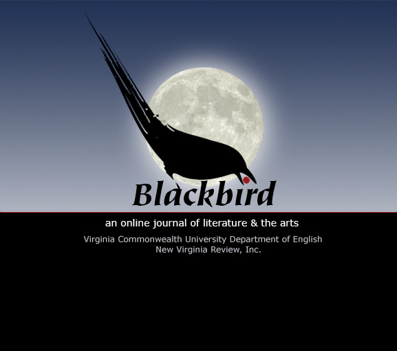 This is the landing page for blackbird at VCU.  You will be redirected to our most recent issue in a moment, or you can click this image.
